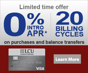 Limited time Offer. 0% intro APR* for 20 billing cycles on purchases & balance transfers. Restrictions apply