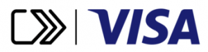 Click to pay with Visa logo